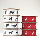 5M Animal Print Ribbon - Cats, Dogs and Reindeer