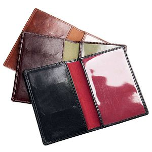 Personalised Italian Leather Passport Cover. 'Prato' - passport & travel card holders