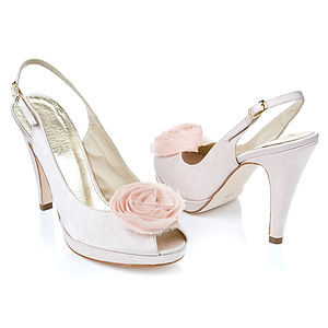 Rosie Satin Peep Toe Shoes - wedding fashion