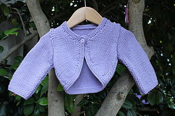 Baby Sweetpea Hand Knit Cardigan