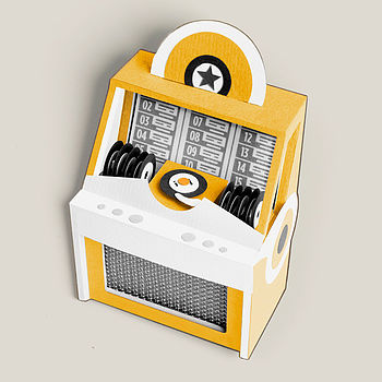 Jukebox Brooch: Mustard Yellow
