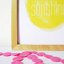 'Hello Sunshine' Nursery Art Print