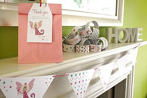 Girl's Personalised Party Decorations - bunting & garlands