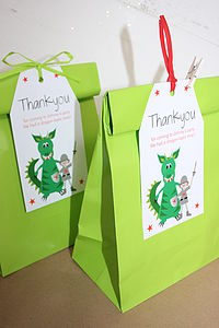 Boy's Party Bags And Personalised Tags