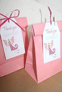 Girl's Party Bags And Tags / 20 Designs Available