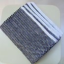 Hand Knit Placemats In Black And White