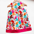 Girl's Squirrel Print Pinafore
