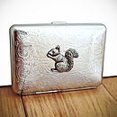 Squirrel Cigarette Case Or Silver Card Case
