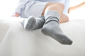 Personalised Cashmere Bed Socks