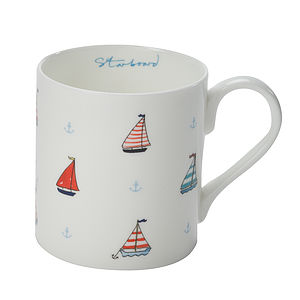 Port & Starboard China Mug - crockery & chinaware