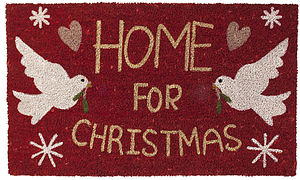 'Home For Christmas' Door Mat