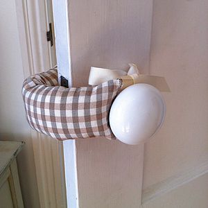 Gingham Door Jammer - children's room accessories