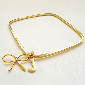 Personalised Square Bangle - women's jewellery