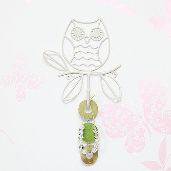 Single Owl Metal Wall Hook