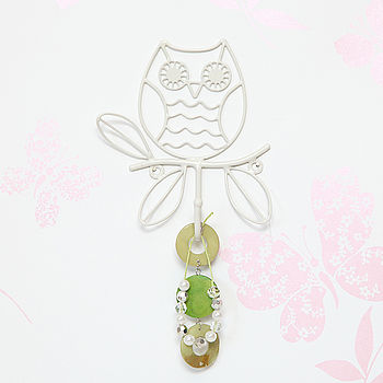 Single Owl Metal Wall Hook