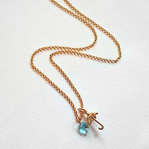 Rain Drop Umbrella Necklace - necklaces & pendants