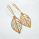 Gold Leaf Outline Earrings