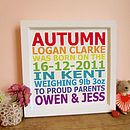 Personalised Baby Announcement Print