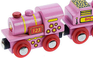 Personalised Pink Name Train - baby & child