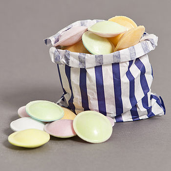 flying saucers and candy bag