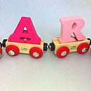Personalised Pink Name Train