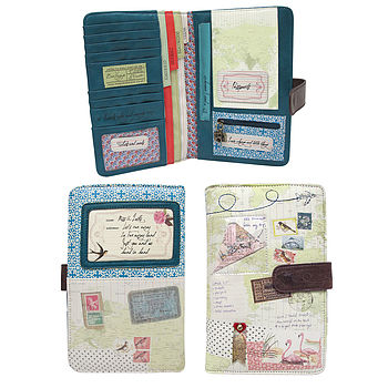 'Lets Run Away' Travel Wallet