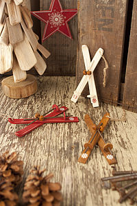 Wooden Nordic Ski Decoration