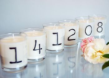 Special Date Candle Set