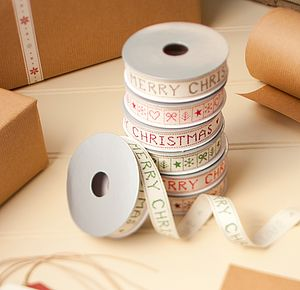 Merry Christmas Ribbon Set Of Four - sewing & knitting