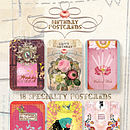 Set Of 18 Birthday Postcards In A Tin