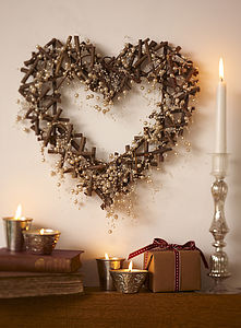 Heart Shaped Crystal and Pearl Wreath
