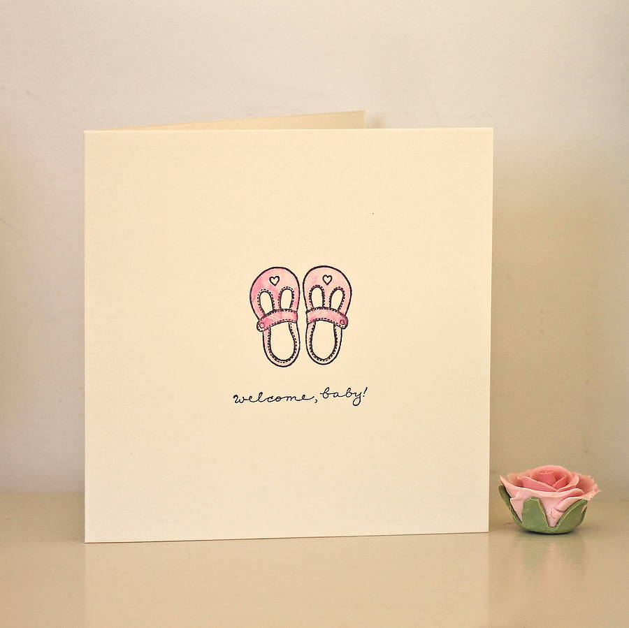 handmade newborn baby card by chapel cards