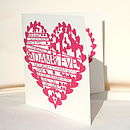 Personalised Heart Wedding Invitation
