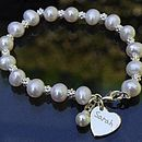 Personalised Pearl Wedding Bracelet