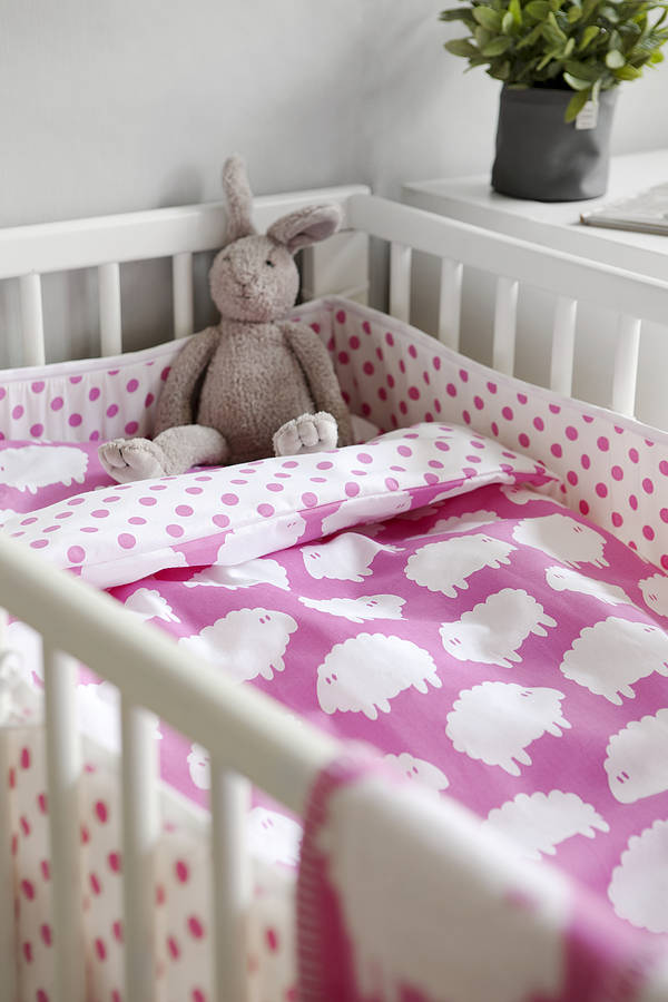 Little Sheep Cot Bed Bedding By Nubie Modern Kids Boutique