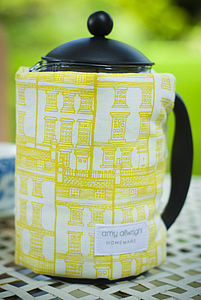 Handmade Screenprinted Coffee Cosy - kitchen