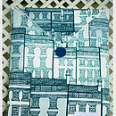 Blue Houses iPad Cover
