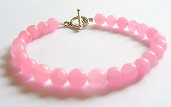 Shocking Pink Jade Bracelet