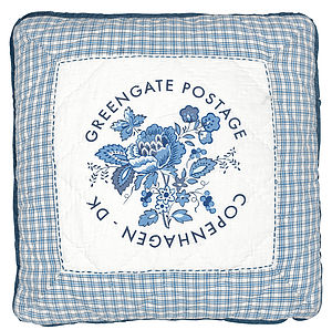 Greengate Postage Design Cushion - birthday specials