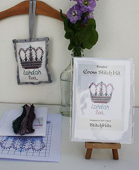 'London 2012' Crown Cross Stitch Kit, Standard