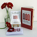 'Call Me' Red Phone Box Cross Stitch Kit