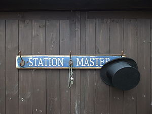 'Station Master' Hat And Coat Hook Board
