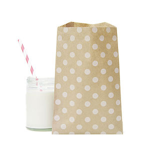 Patterned Brown Paper Bags - wedding favours