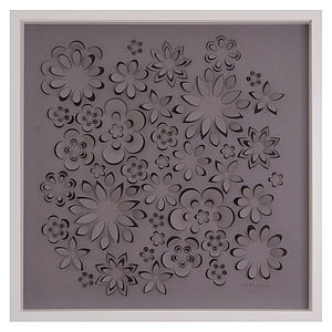 Personalised Laser Cut Flower Power Artwork - mixed media & collage