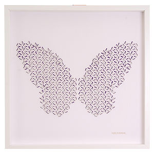 Laser Cut Butterfly Effect Artwork