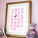 Personalised Flower Alphabet Print