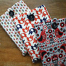 Retro Red Fabric Cover For Kindle