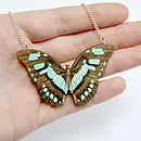 Maisie Wooden Butterfly Necklace