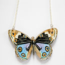 Freya Wooden Butterfly Necklace