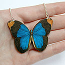 Tabitha Wooden Butterfly Necklace